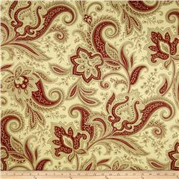 Waverly Rustic Retreat Twill Crimson