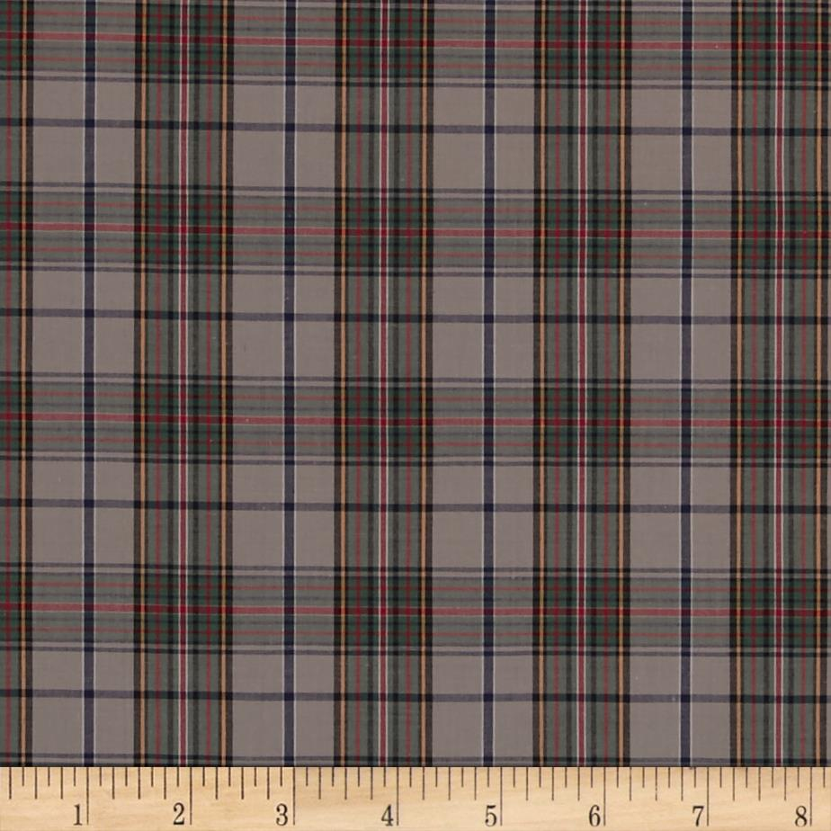 Pima Tartan Plaid Shirting Grey Discount Designer Fabric