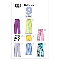Butterick Misses'/Misses' Petite Top, Shorts & Pants Pattern B3314 Size LRG