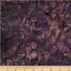 Bali Batiks Handpaint Striped Hexagon Marsala
