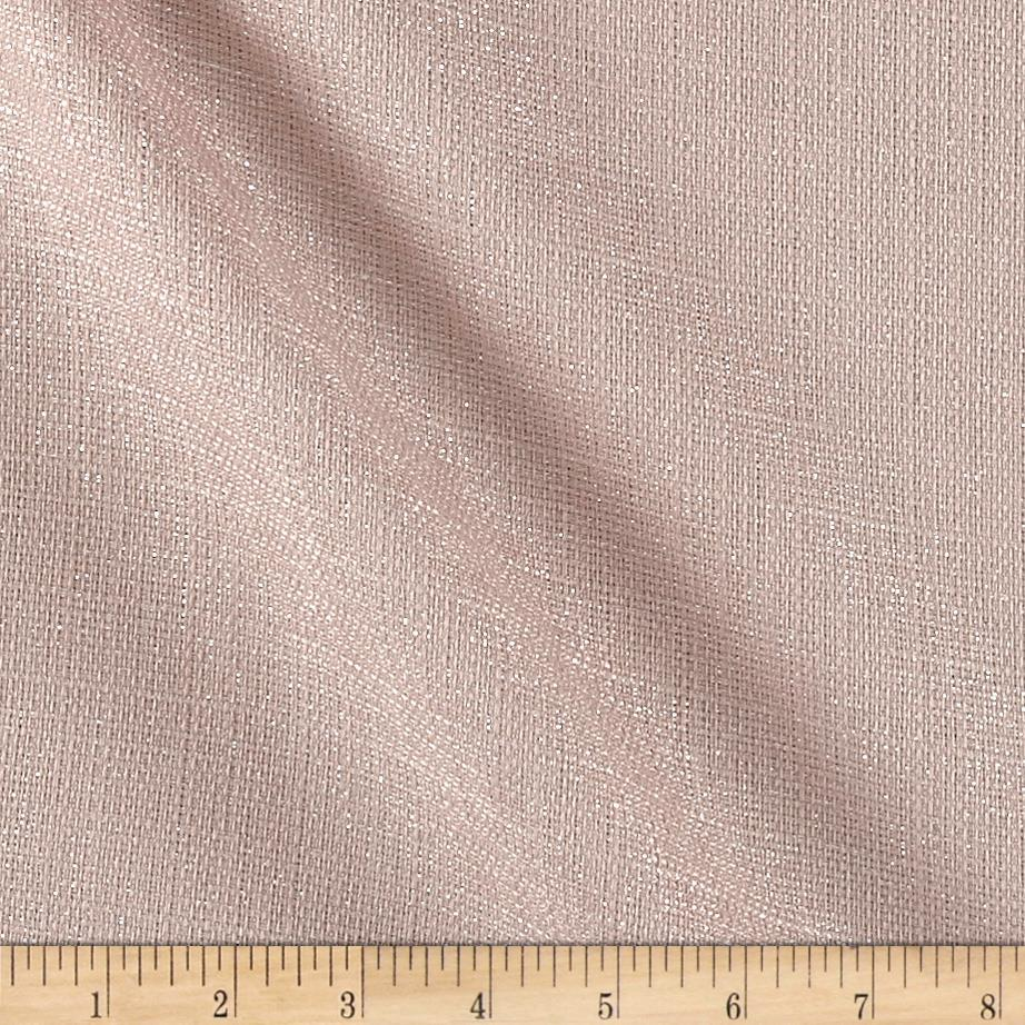 World wide metallic drapery sheers mesa blush discount for Fabric world