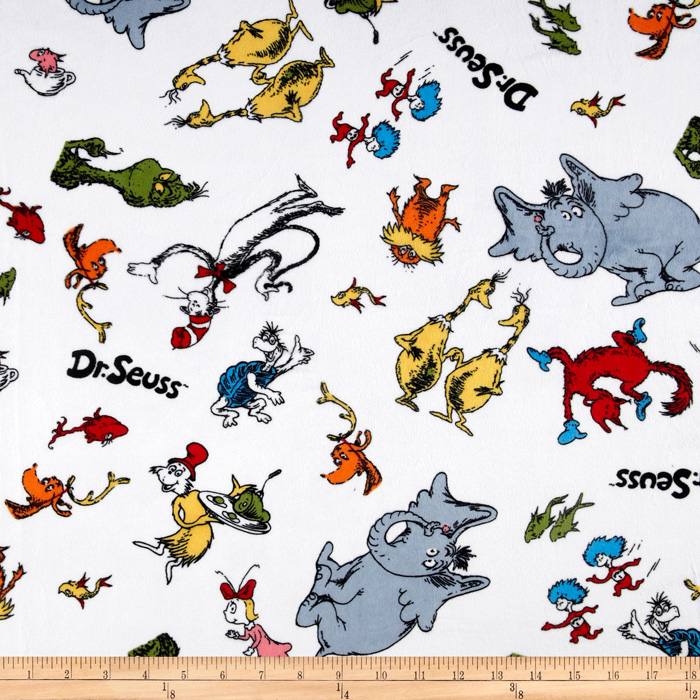 Celebrate Seuss! Minky Cuddle Doodles Celebration Fabric