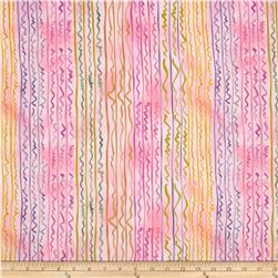 Earth Dancing Lines and Squiggles Multi/Pink