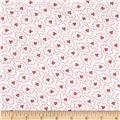 "Kaufman 108"" Quilt Back Hints of Prints Flowers Poppy"