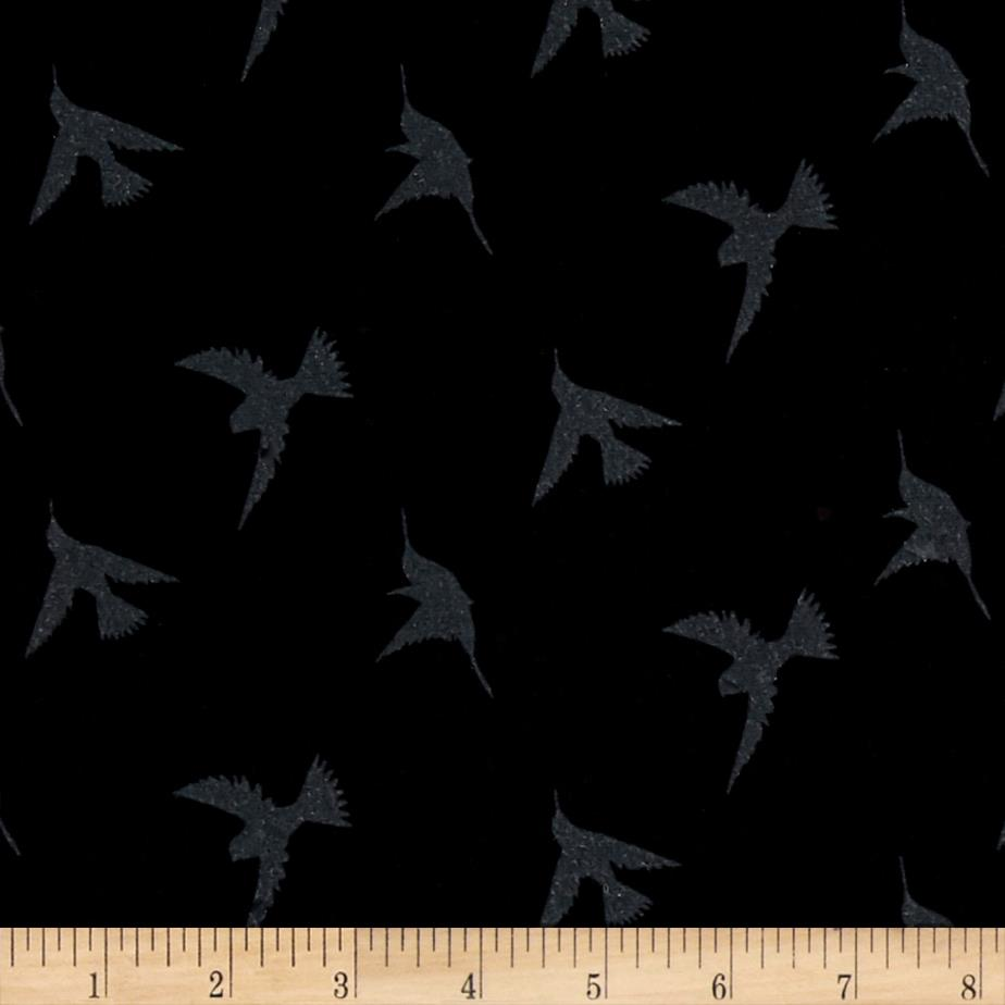 Children's Jersey Knit Birds Black