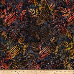 Timeless Treasures Tonga Batik Fig Ferns Midnight