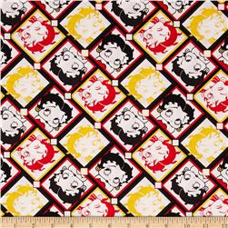 Betty Boop Tiles White/Multi Fabric