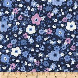 Timeless Treasures Julia Floral Denim