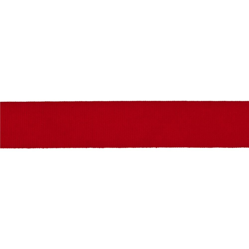 "5/8"" Faux Canvas Ribbon Red"