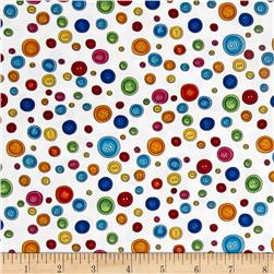 Loralie Designs Sew Fabulous! Button Dots White