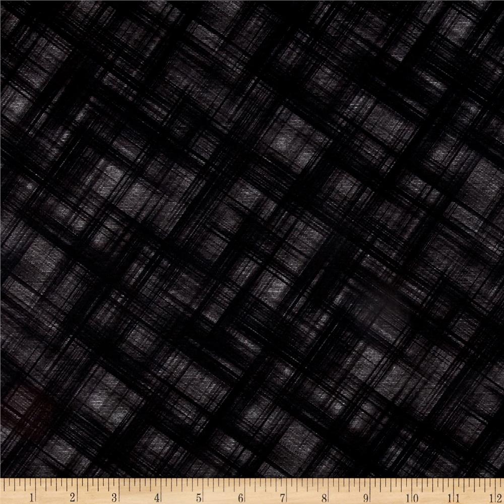 Telio Ponte Plaid Print Black