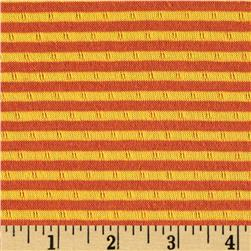 2-Sided Double Knit Stripes Orange/Yellow
