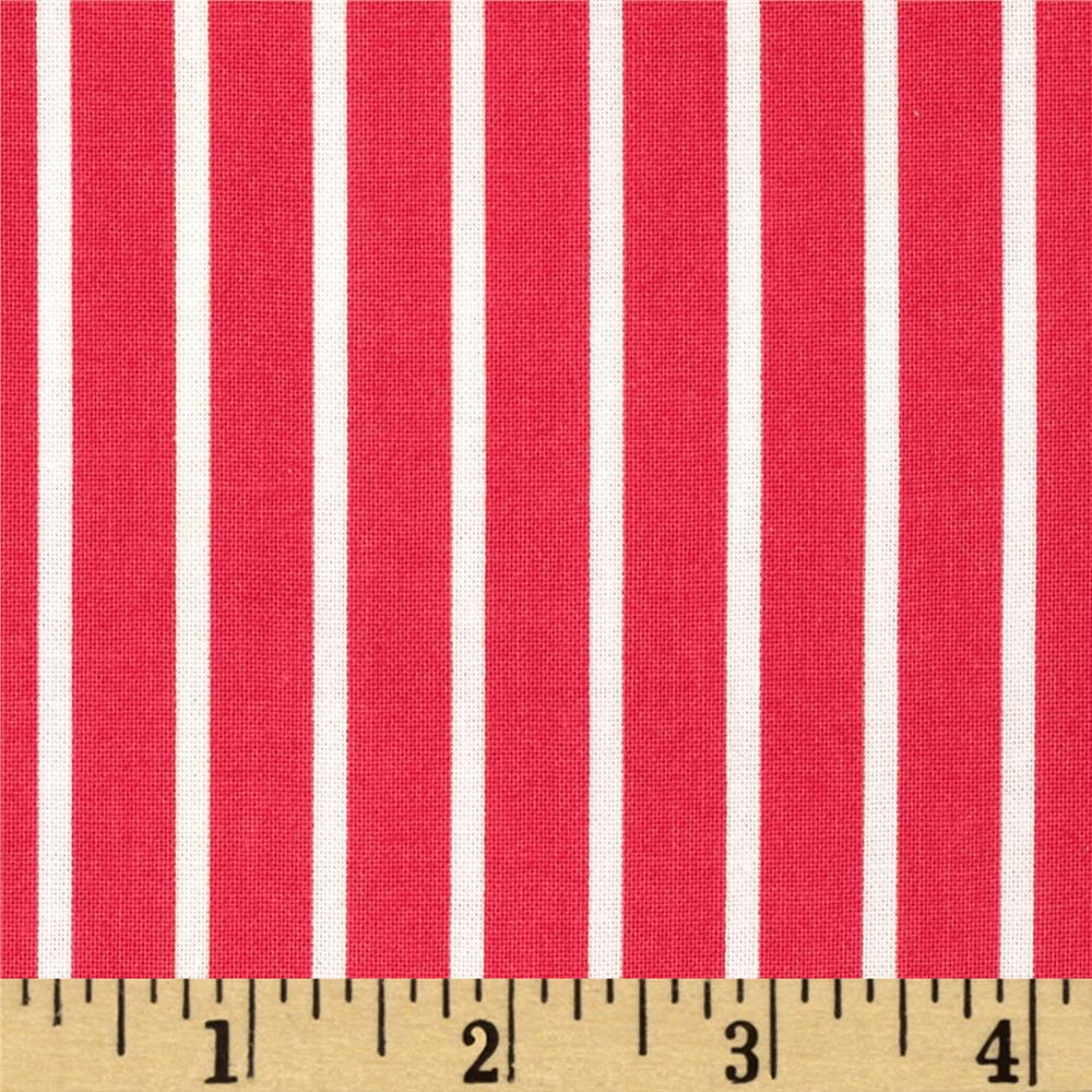 Dear Stella Sea Worthy Pinstripe Red