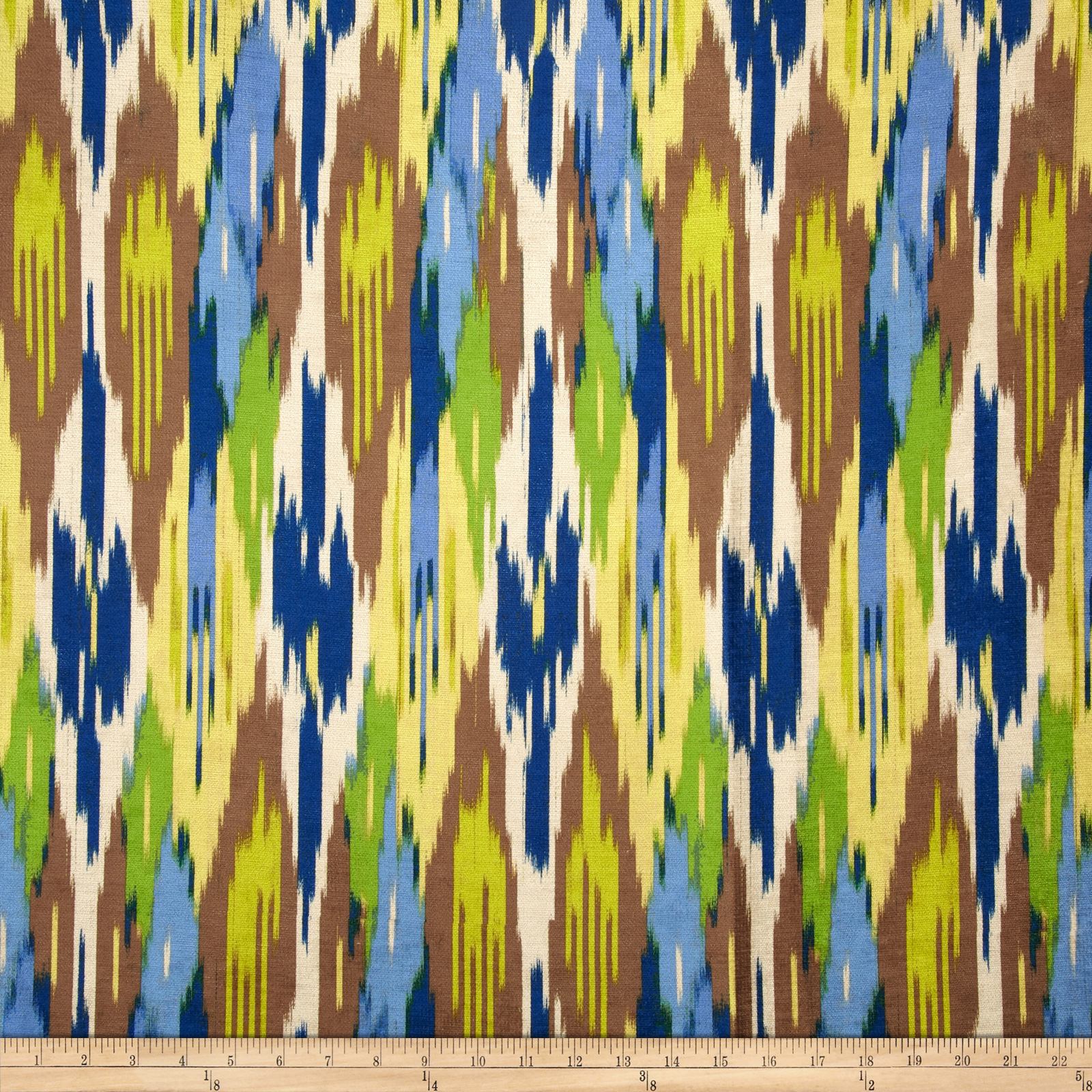 Iman Home Painted Pavilion Antique Velvet Ikat Lapis