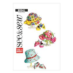 Butterick Infants' Hats and Shoes Pattern B5941 Size 0A0