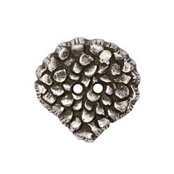 Fashion Button 1 3/8'' Molten Antique Silver