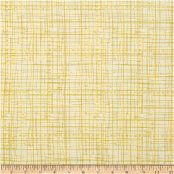 Bloom Sketched Plaid Yellow