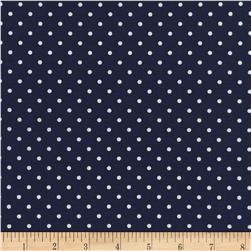 Timeless Treasures Polka Dots Navy Fabric