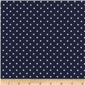 Timeless Treasures Polka Dots Navy