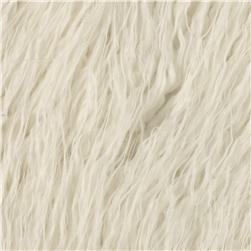 Shannon Faux Fur Curly Mongolian White