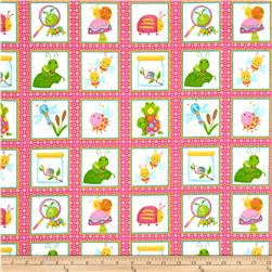 Cuddle Bugs Flannel Bugs In Squares Pink