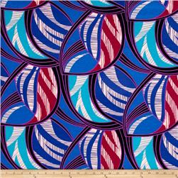 Jersey Knit Abstract Large Blue Purple