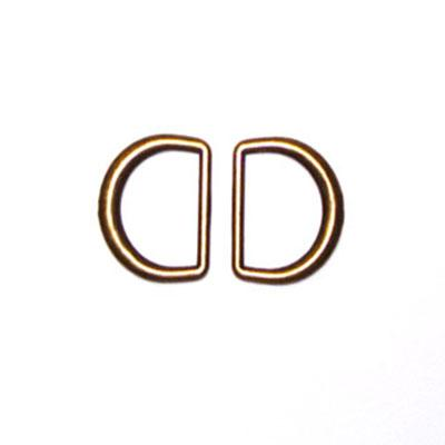 "Antique Gold D-Rings 1-3/16"" 2/Pkg"