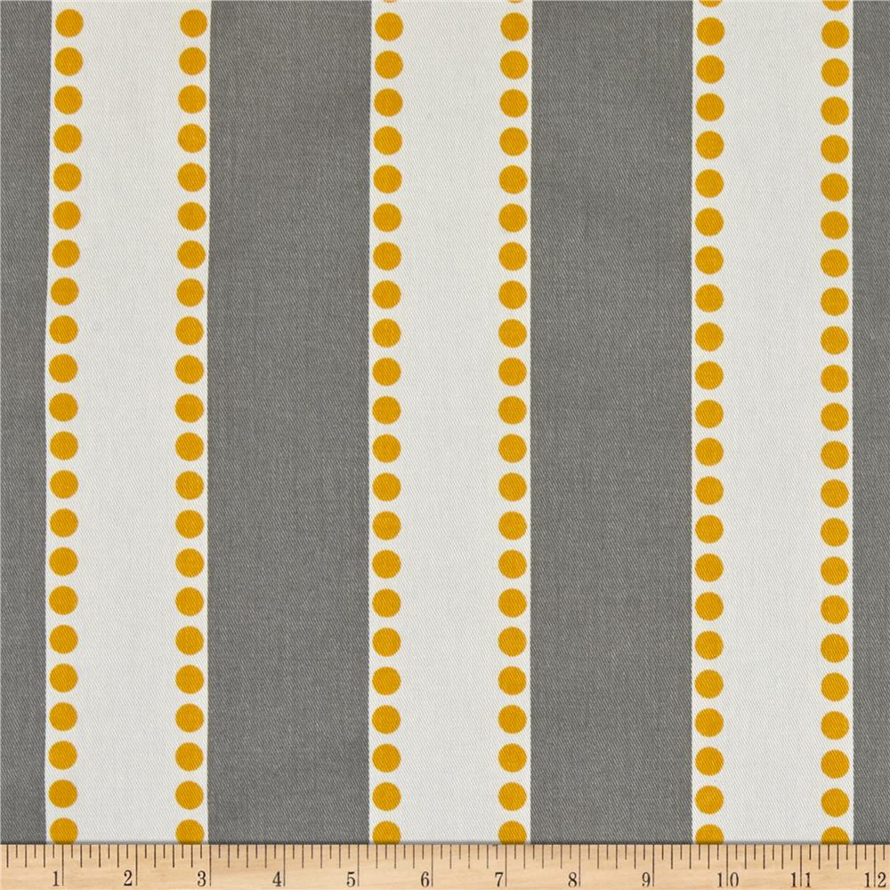 Premier Prints Lulu Stripe Twill Storm/Yellow - Discount Designer