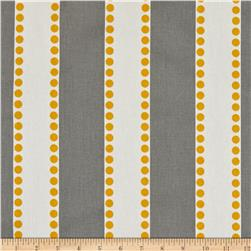 Premier Prints Lulu Stripe Twill Storm/Yellow Fabric