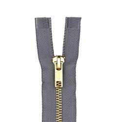 "Coats & Clark Heavy Weight Brass Separating Zipper 22"" Slate"
