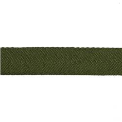 "May Arts 3/4"" Twill Ribbon Spool Olive"