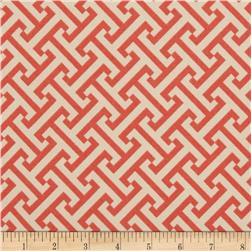 Waverly Sun N Shade Cross Section Peachtini Fabric