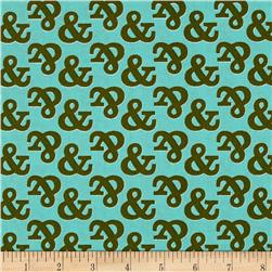 Cloud 9 Organic Typography Ampersand Turquoise