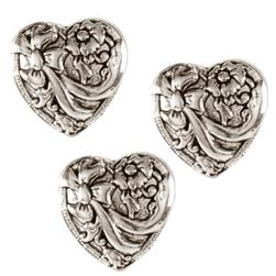 Metal Button 5/8'' Heartland Antique Silver