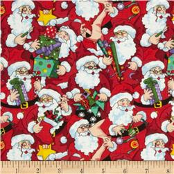 Santa's Workshop Santas Multi Red