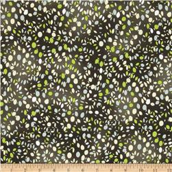 Lush Harvest Dots Green Fabric