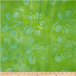 Indian Batik Tone on Tone Floral Green