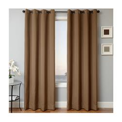 Sunbrella 84'' Solid Grommet Outdoor Panel Cocoa