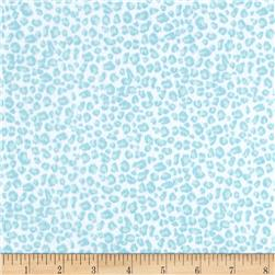 Cuddle Me Basics Flannel Animal Skin Turquoise Fabric