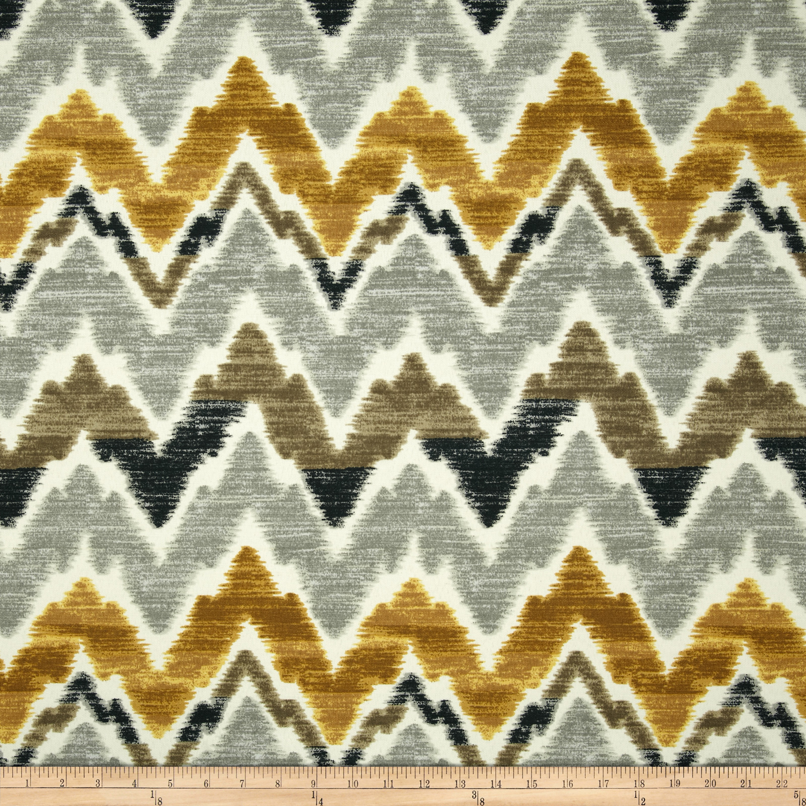 Swavelle/Mill Creek Indoor/Outdoor Tiago Chevron Gilded Fabric