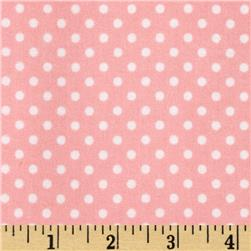 Riley Blake A Beautiful Thing Flannel Dot Pink