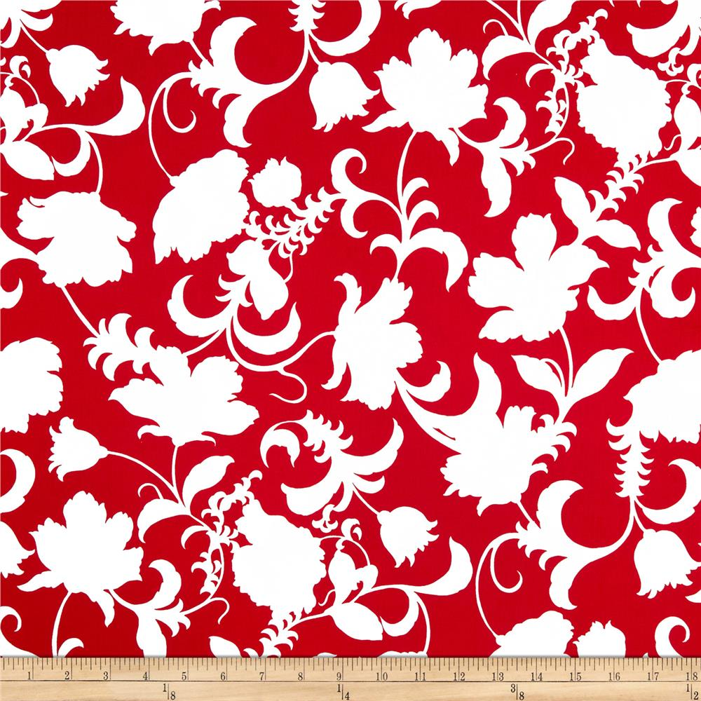 Black and White Gramercy Floral Red/White