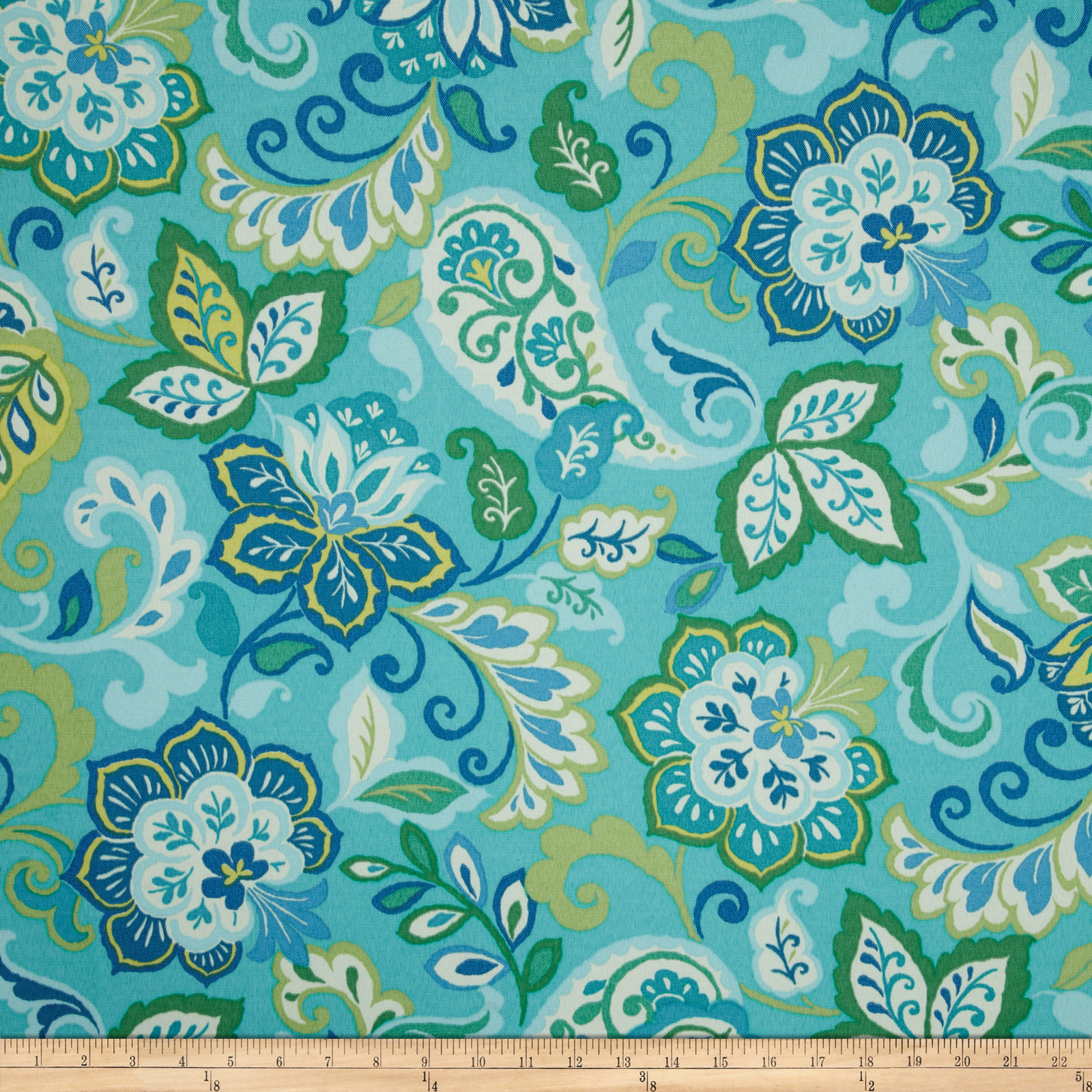 Swavelle/Mill Creek Indoor/Outdoor Sabry Aqua Fabric