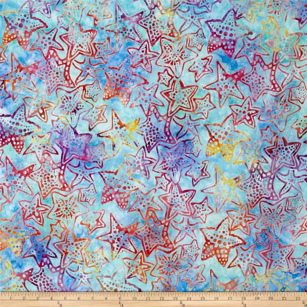 Kaufman Totally Tropical Batik Starfish Rainbow