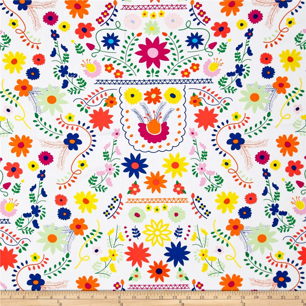 Art gallery fiesta fun canvas mexican dress morning for Dressmaking fabric