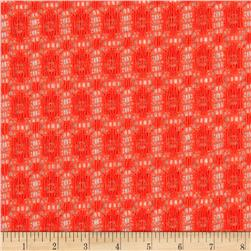 Avelon Stretch Lace Coral Orange Fabric