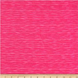 Designer Slub Hatchi Sweater Knit Fuschia Fabric