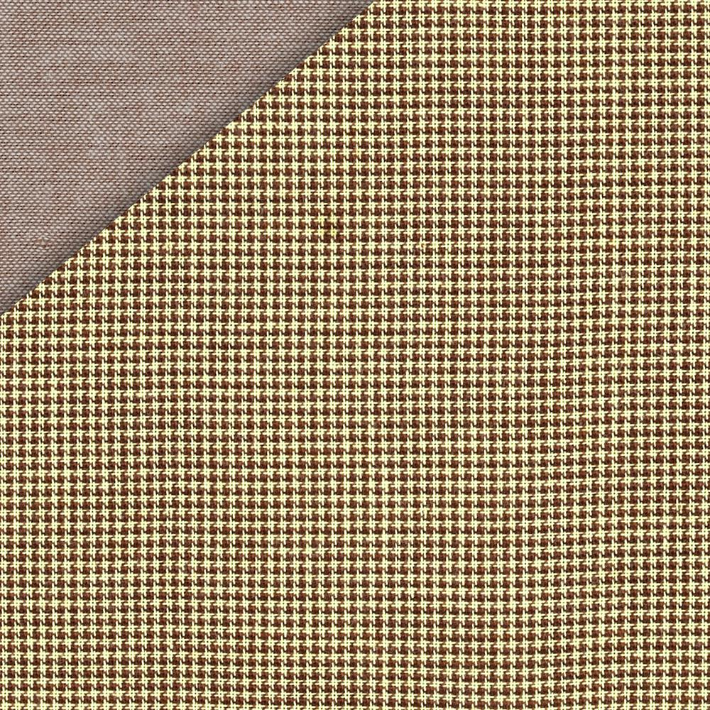 Kaufman Double Cloth Cotton Mini Check Khaki
