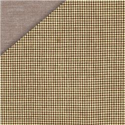 Kaufman Double Cloth Cotton Mini Check Khaki Fabric