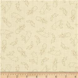 Cotton Tale Bunny Toile Cream